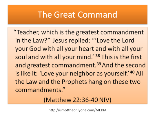 Love embodied in humans. Love to God and Love of man.