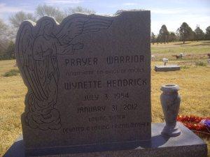 Wyn's grave marker