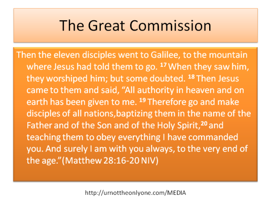 GREAT COMMAND AND COMMISSION