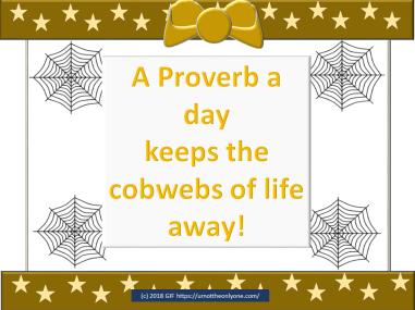 APROVERB PER DAY KEEPS THE COBWEBS AWAY