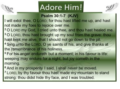 Exalt Him