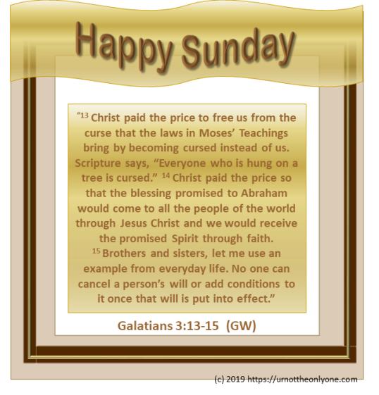Galatians3:13-15