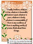 Philippians 4 8(ESV)